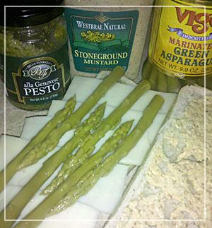 Pesto Asparagus Sammie
