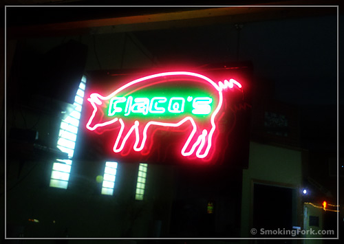 Flaco's Pig Sign, Downtown Gainesville