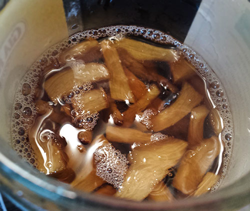 Ginger Brown Sugar Simple Syrup